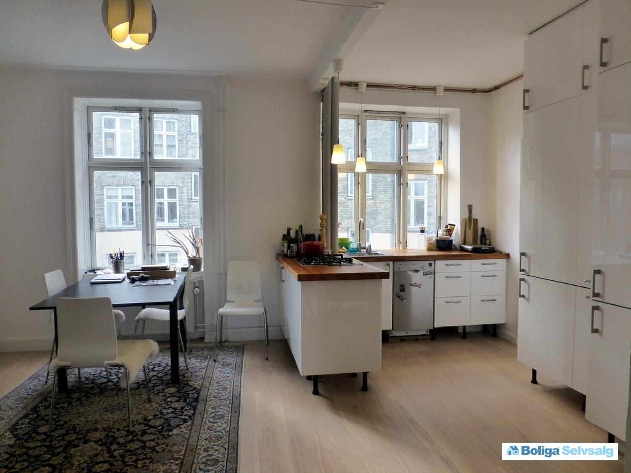 Esromgade 7b, 1. tv., 2200 københavn n   dejlig 2v andelslejlighed ...
