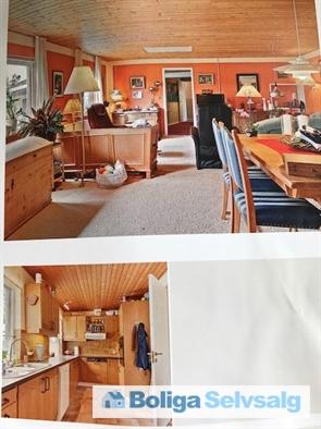 Nederst køkkenet. Øverst den 'store' stue, tidligere butik og systue. Egen indgang og adgang til nyrenoveret toilet med brus. Evt. 2-3 vær.