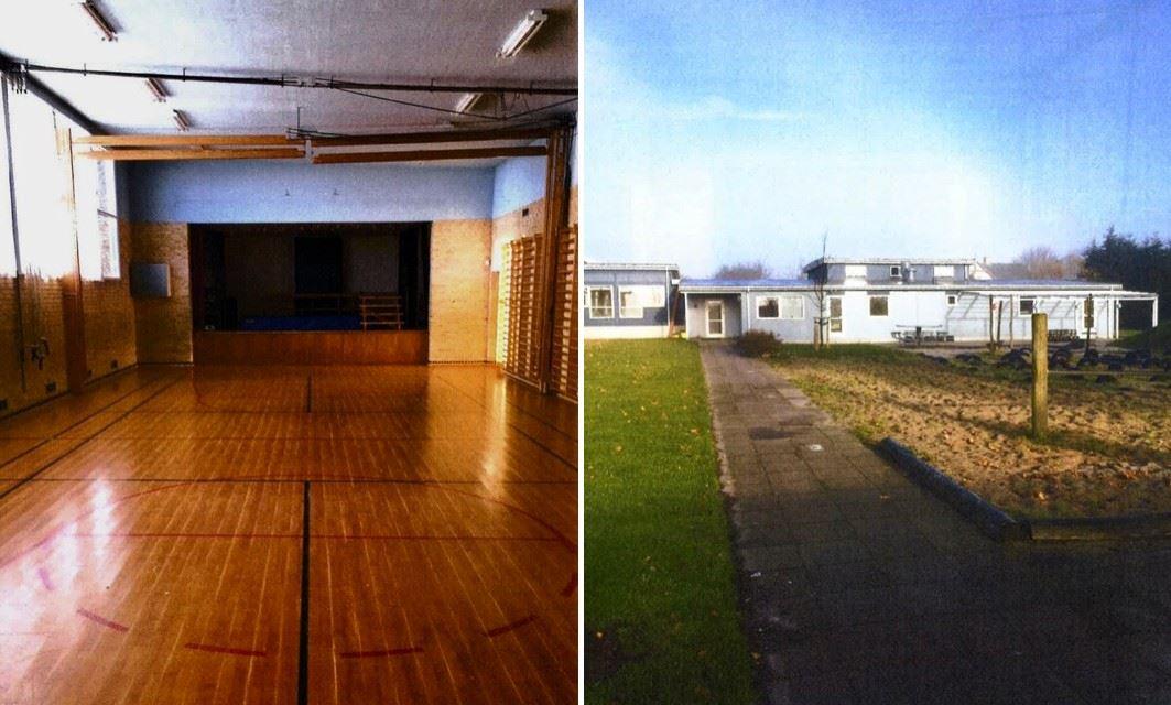 Man kan byde på denne tidligere skole, der netop nu er begæret på tvangsauktion. Foto: Abel & Skovgård Larsen